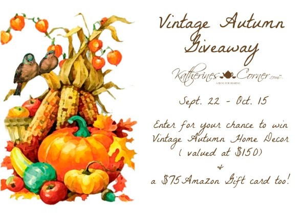 vintage Autumn Giveaway ends Oct 22