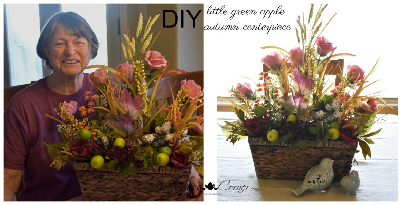 DIY little green apple autumn centerpiece