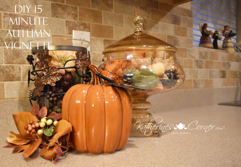 diy 15 minute autumn vignette 2