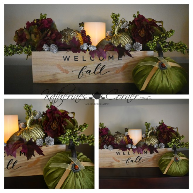 diy autumn decor with flameless candle