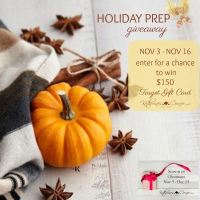 Season of Giveaways Holiday Prep Giveaway