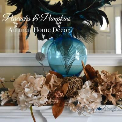 peacocks and pumpkins autumn home decor