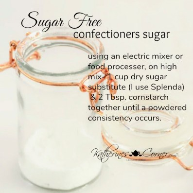 sugar free powdered sugar recipe