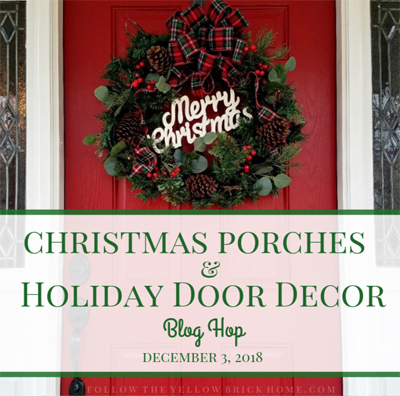 Christmas Porches and Holiday Door Decor