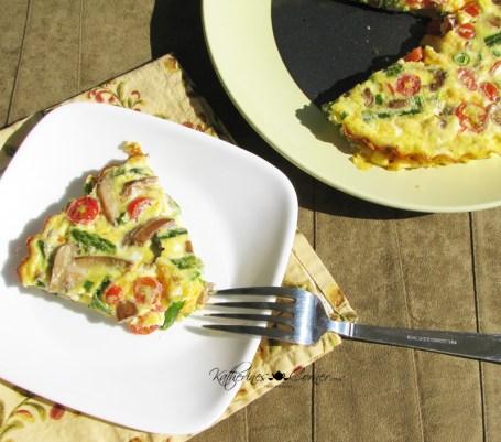egg veggie tart