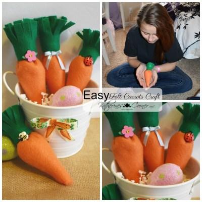 EASY felt carrots easter craft katherines corner