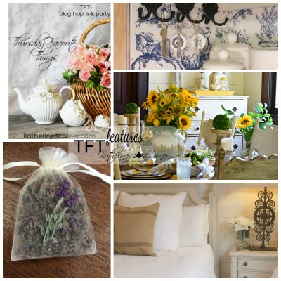 French Style Decor and Thursday Blog hop link party