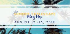 last summer tablescape tour