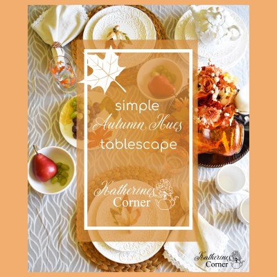 autumn hues tablescape and welcome fall tablescape blog hop
