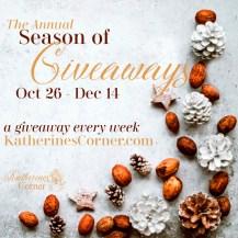 Season of Giveaways 8 giveaways on Katherines Corner