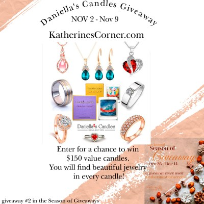 Daniella's Candles Giveawayenter to win candles with jewelry inside