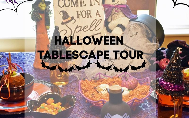 halloween tablescape tour