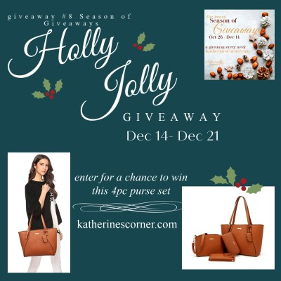 enter for a chance to win 4 pc purse set in the Holly Jolly Giveaway