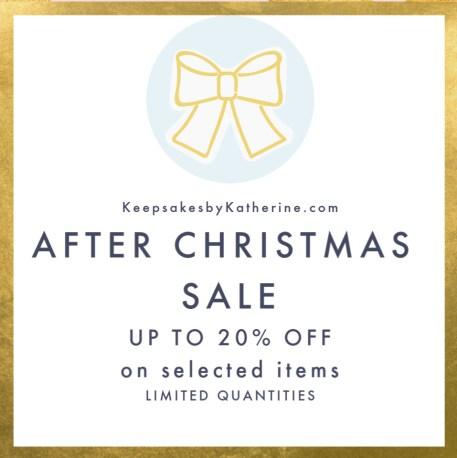 keepsakes by katherine after Christmas sale