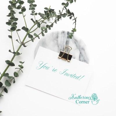 invitation and Eucalyptus katherines corner