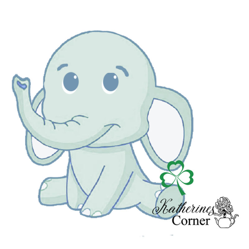 elephant and shamrock illustration katherines corner