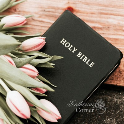 easter tulips with bible