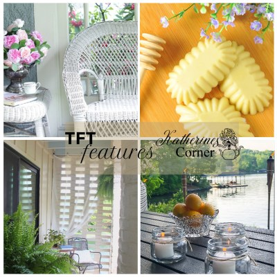 patio curtains, diy soap and creating ambiance