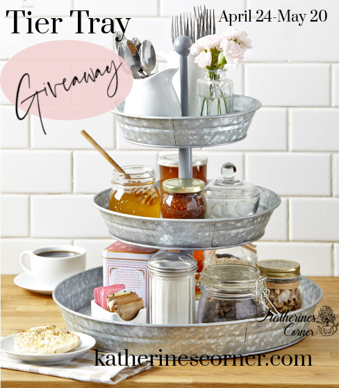 Tier tray giveaway and Amazon gift card giveaway