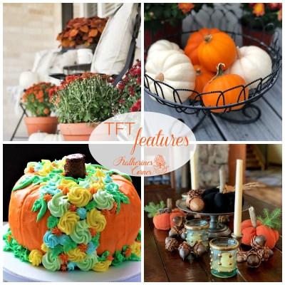 autumn orange home decor