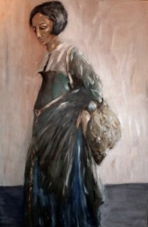 Old woman after Holbein