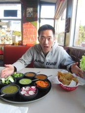 We stopped for dinner at Tacos El Paisa.