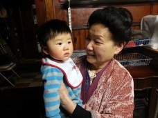 Great-grandmother and great-grandson <3