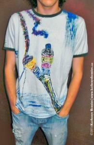 T-shirt Hilandero: Algodón, acriléx en tela, bordes en color,