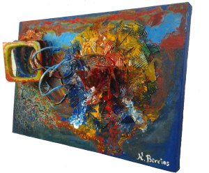 Modern Art 3d Sculpture Abstract Art Sculpture Painting Remolinos Corazón