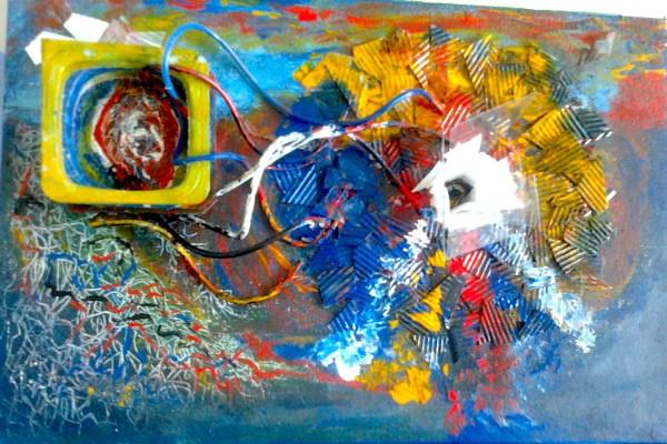 Modern Art 3d Sculpture Abstract Art Sculpture Painting Remolinos Corazón