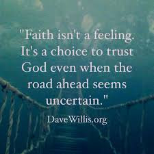 Morning Motivation; I Choose Faith