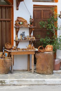 Olive wood shop in Kritsa where I bought my mortar and pestle