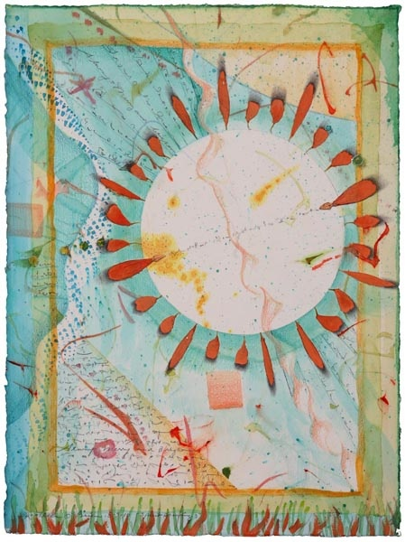 "Kathleen O'Brien, ""Spirit Drawing 3"", varnished collage"