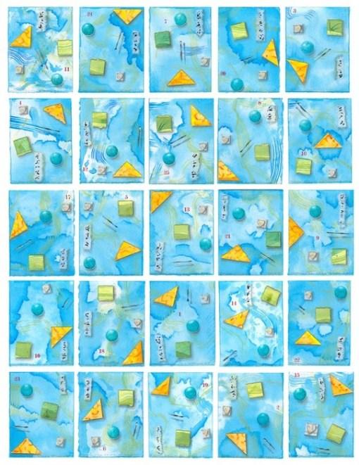 "Kathleen O'Brien, ""7 elements"", multiple collage"