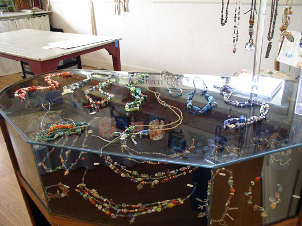 Jewelry Display at Kathleen O'Brien Studio
