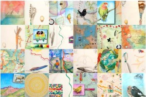 Kathleen O'Brien, 24 details of watercolors, drawings, collage