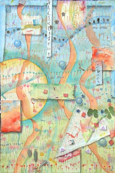 """Kathleen O'Brien, """"3 Worlds"""", collage"""