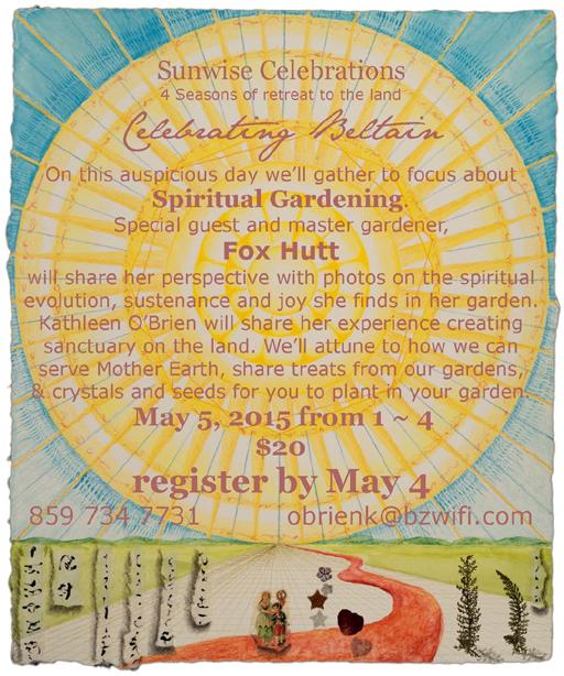 Sunwise Celebrations Beltain 2015
