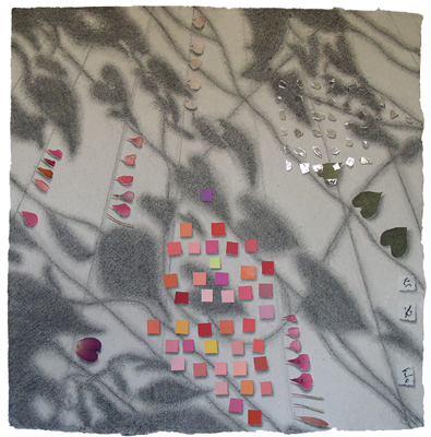 """Kathleen O'Brien, """"Memories of Summer 1"""", collaged drawing"""