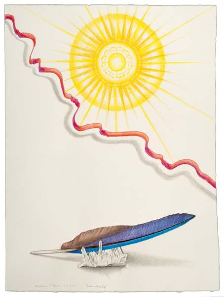 """Sun Worship"" drawing Kathleen O'Brien"