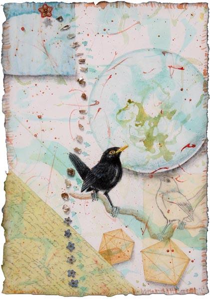 Black Bird Fly, Giclee Print