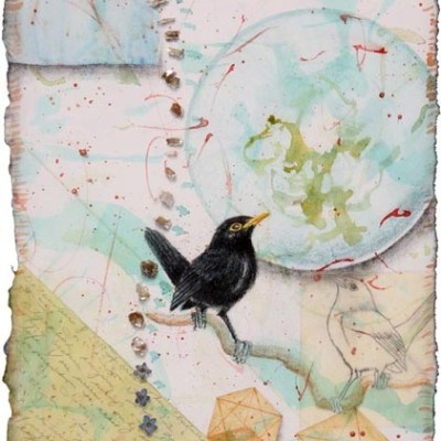 Black Bird Fly, Giclee Print