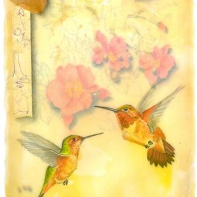 Rufous Hummingbirds, Giclee Print
