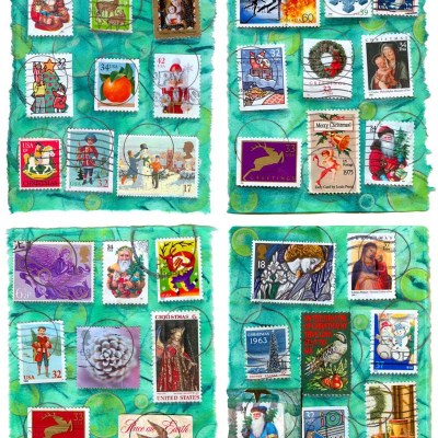 Holiday Stamps Card Set 1