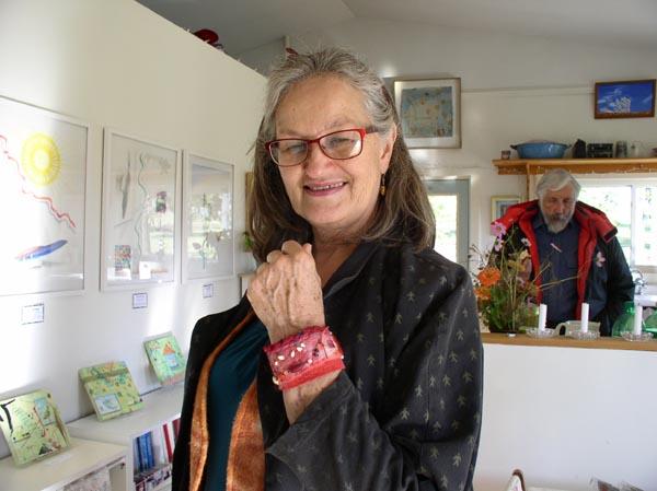 """Laverne Zabielski wearing """"Talisman for Ageing Gracefully"""""""