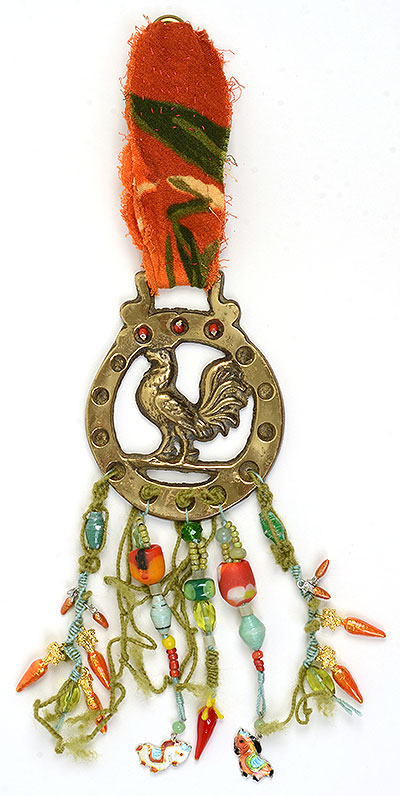 """Talisman for Farmers"" beaded bridle decoration Kathleen O'Brien"