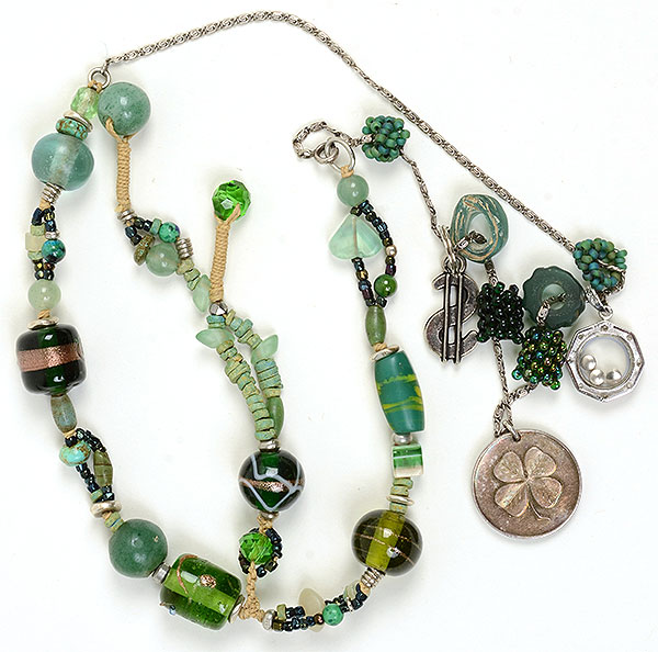 """Talisman for Fortune"", necklace by Kathleen O'Brien"