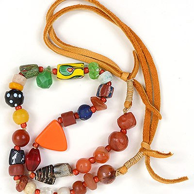 """Talisman for Grounding 2"" necklace by Kathleen O'Brien"
