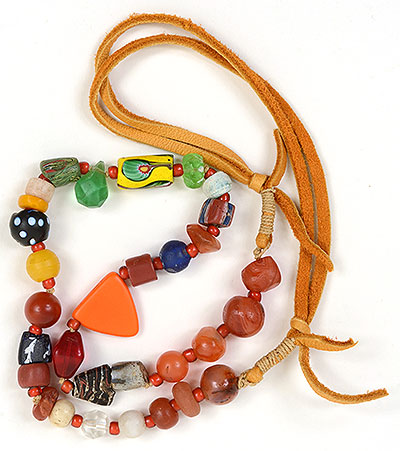 """""""Talisman for Grounding 2"""" necklace by Kathleen O'Brien"""