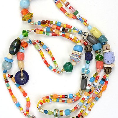 """Talisman for Joy 1"" bead necklace Kathleen O'Brien"